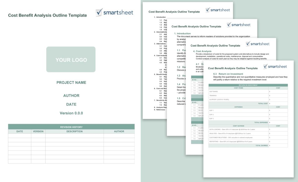 Project Plan Spreadsheet and Free Cost Benefit Analysis Templates Smartsheet