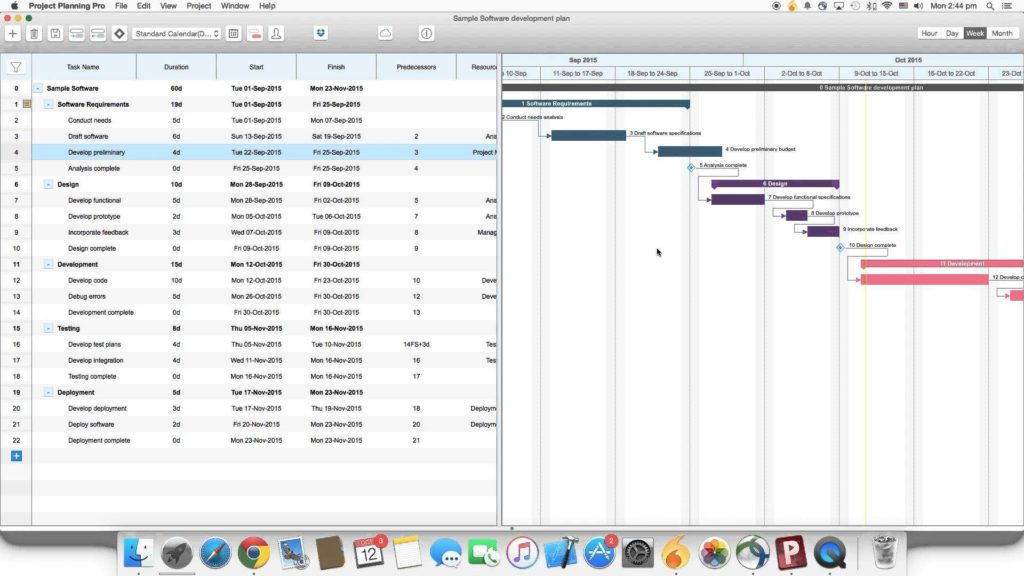 Project Schedule Gantt Chart Excel Template and Project Planning Pro for Mac Os X How to Edit A Task In the Gantt