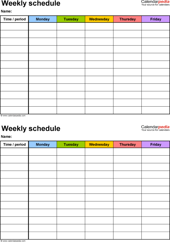 Project Schedule Template Excel Free and Free Weekly Schedule Templates for Excel 18 Templates