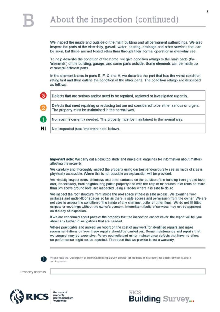 Property Condition assessment Report Template and Building Survey Gregory Surveyors