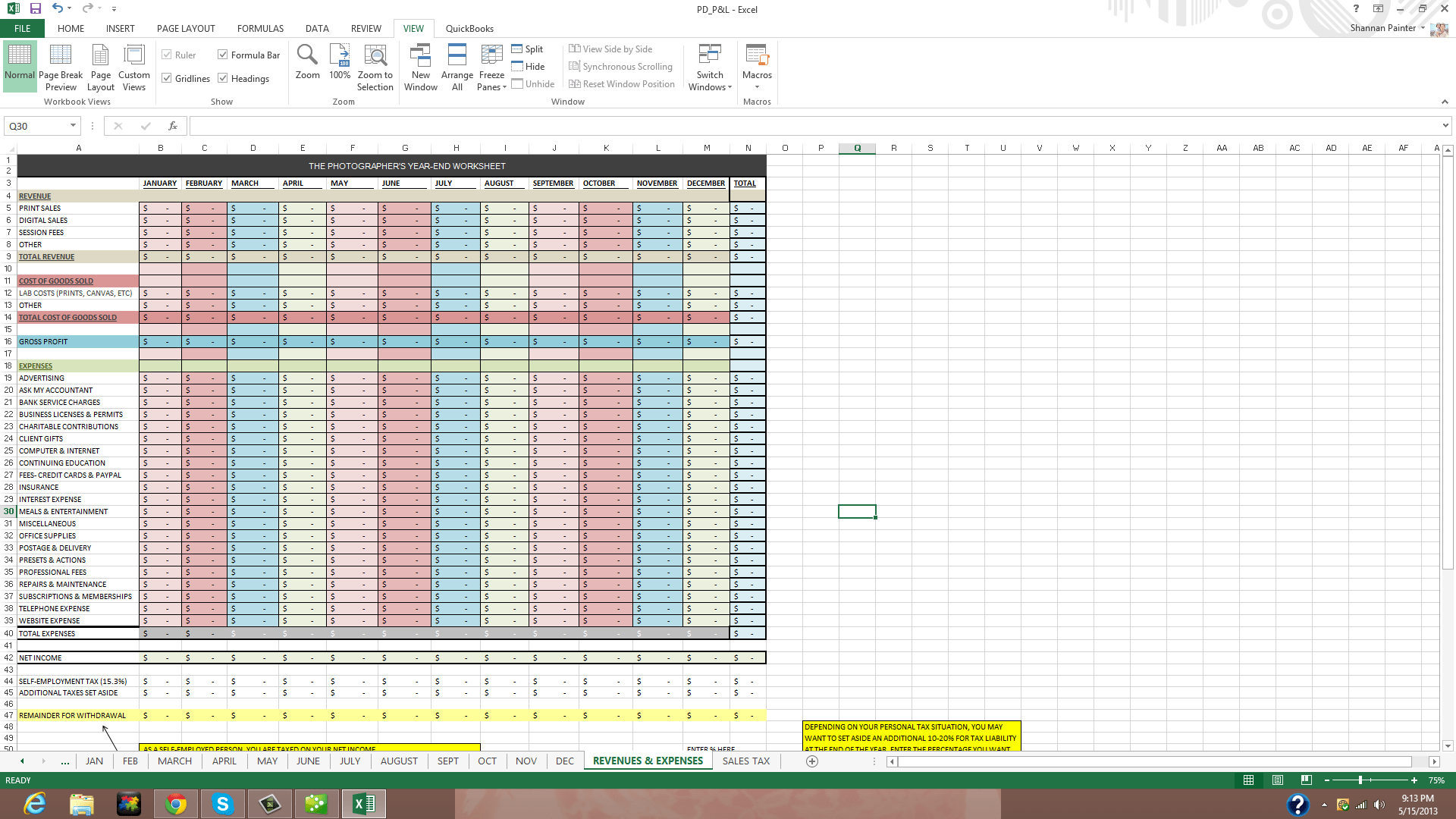 Prospect Tracking Spreadsheet and Client Tracking Spreadsheet Nbd