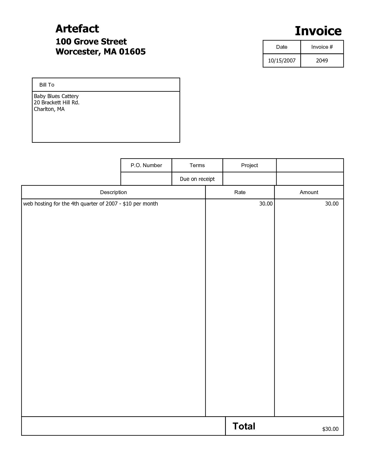 Quickbooks Online Invoice Templates and Invoice Template Pdf Word Printable Invoice Template