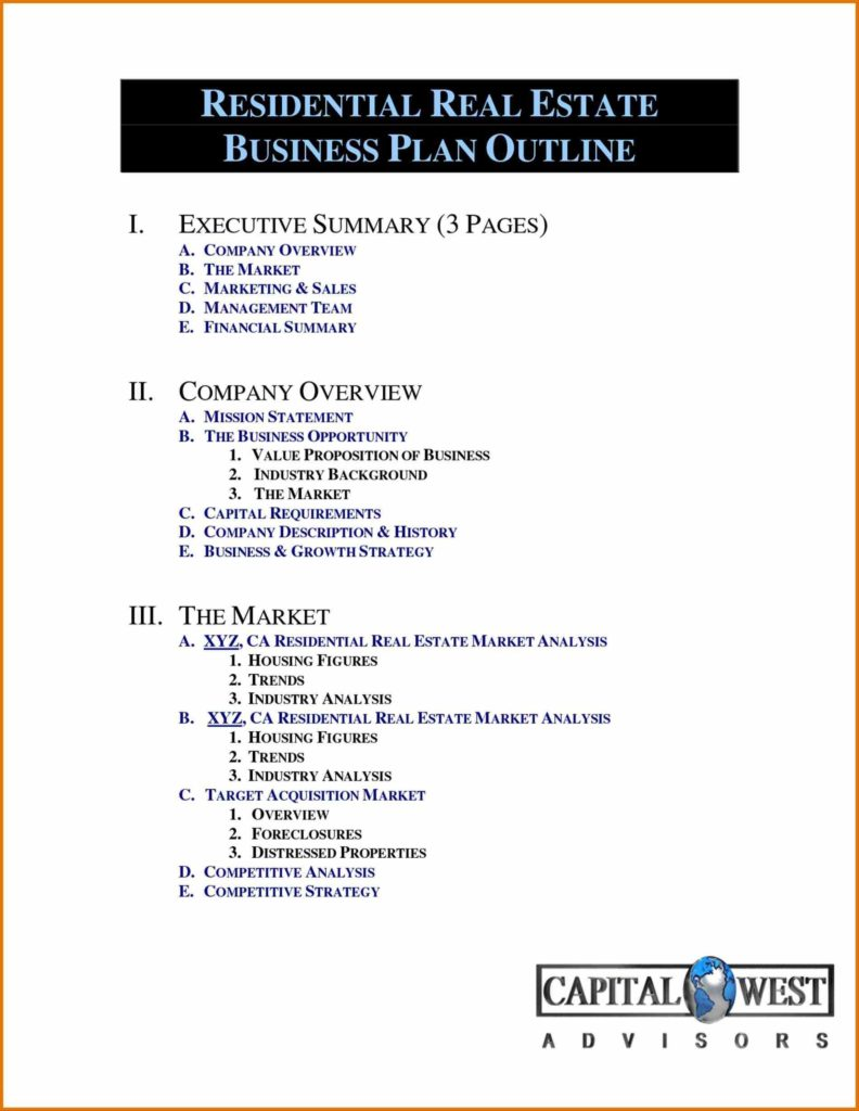 Real Estate Investment Analysis Spreadsheet and Marketing Plan Template One Page Real Estate Business Plan Best