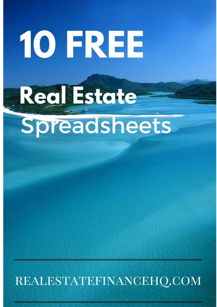 Real Estate Investment Calculator Spreadsheet and 10 Free Real Estate Spreadsheets Real Estate Finance