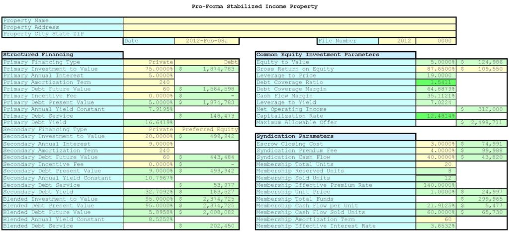 Real Estate Investment Calculator Spreadsheet and Real Estate Investment Spreadsheet Teerve Sheet