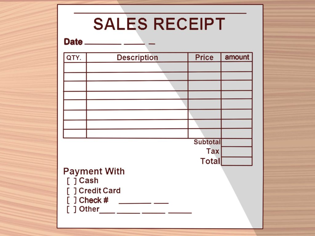 Rent Bill Template and How to Write A Receipt 9 Steps with Pictures Wikihow