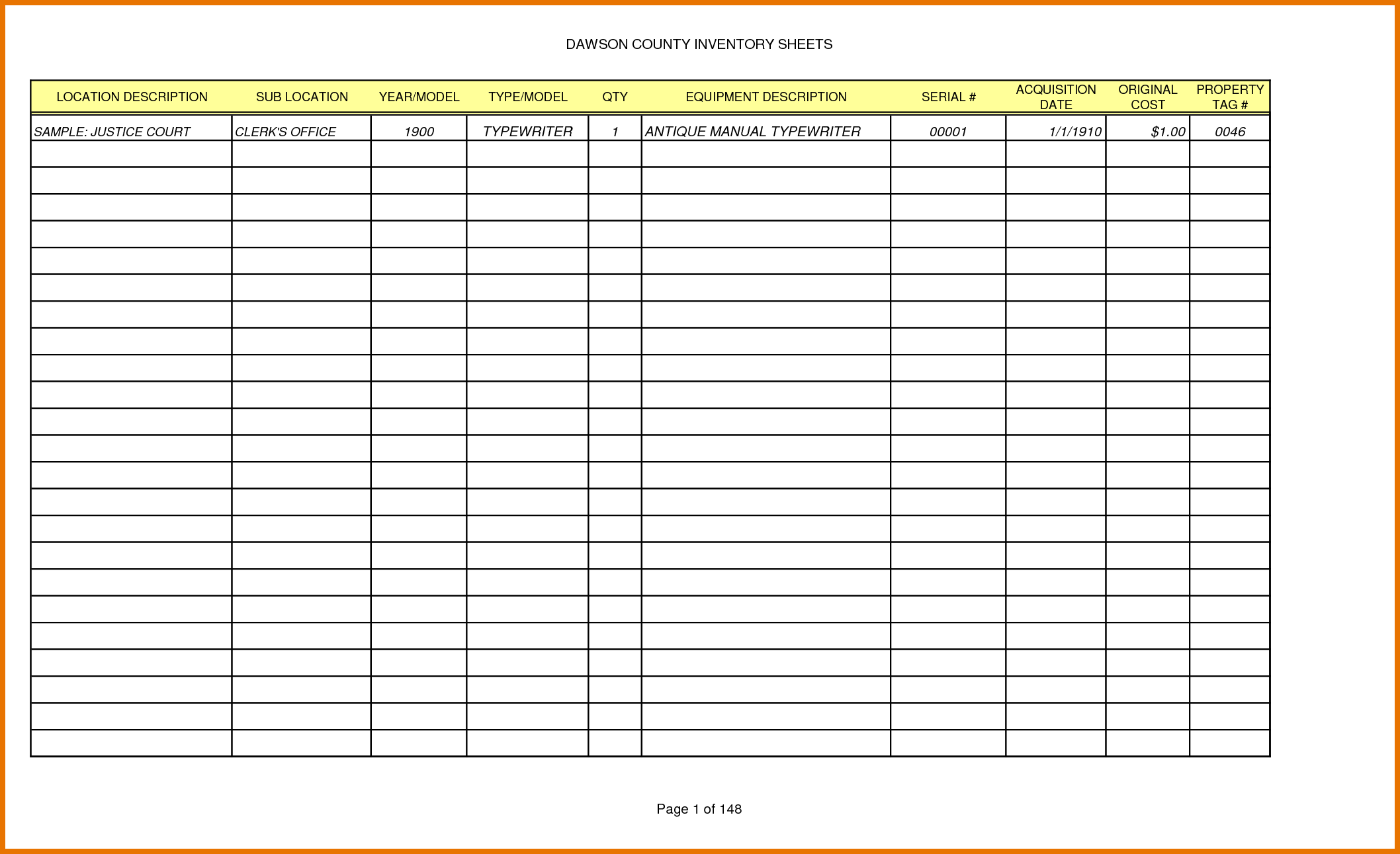 Retail Inventory Spreadsheet and 8 Free Inventory Template Itinerary Template Sample