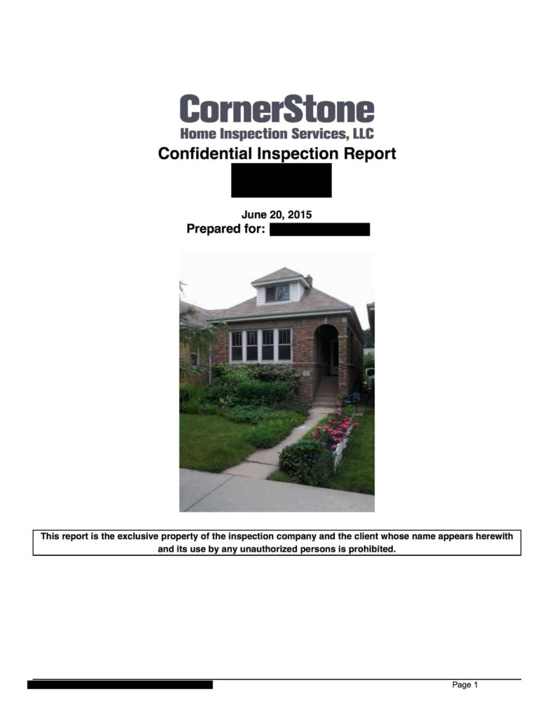 Roof Inspection Report Template and Sample Home Inspection Report Cornerstone Home Inspection Services