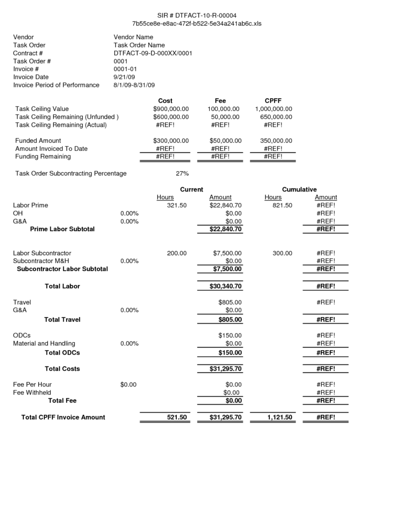 Roof Repair Invoice Sample and Labor Invoice Template Printable Invoice Template Firmsinjafo