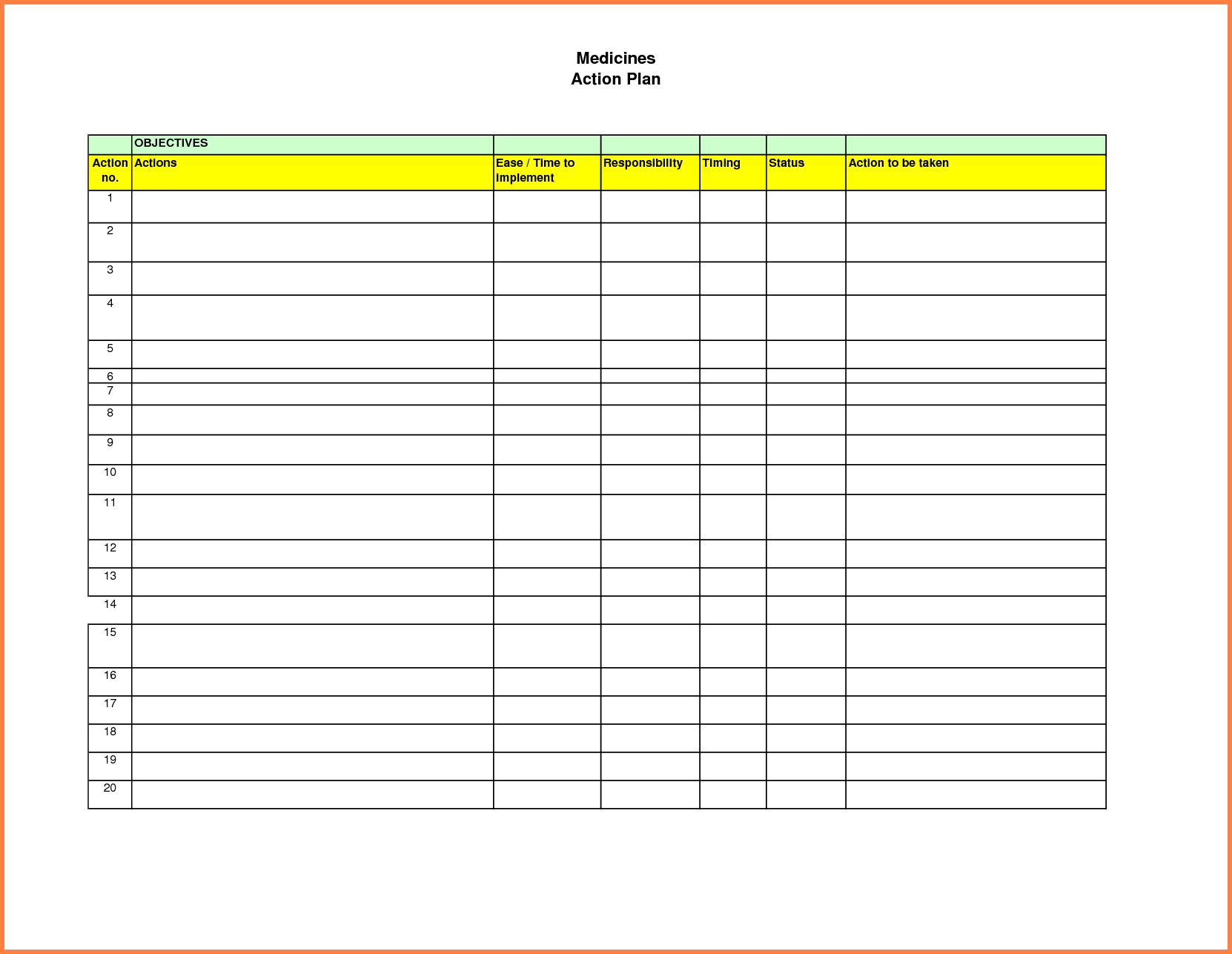 Sale Report Template Excel and Action Plan Template Excel Sales Report Template
