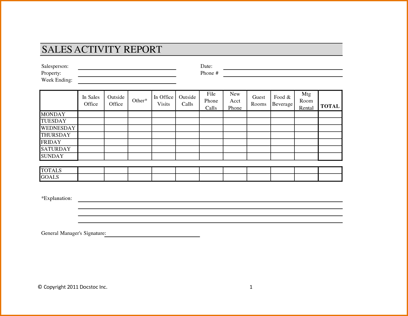 Sales and Marketing Report Template and Monthly Activity Report Template