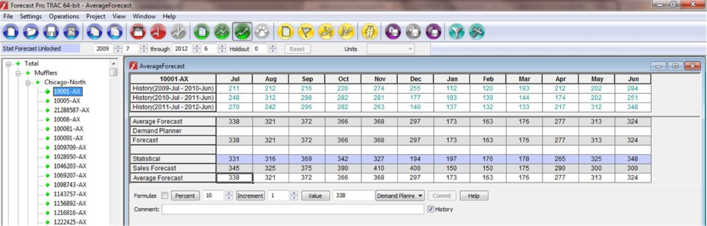 Sales forecast Spreadsheet Example and Wel E to forecast Pro software for Sales forecasting