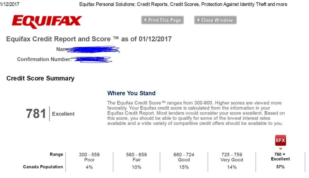 Sample Credit Report Equifax and Breach Of Privacy Rights by Bell Unauthorized Hard Credit Check