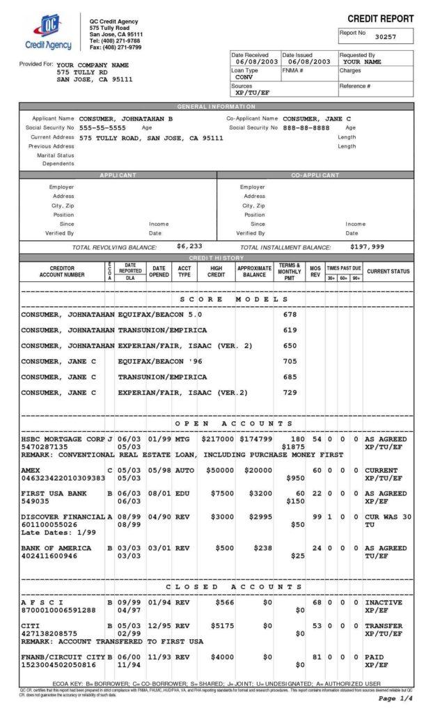 Sample Credit Report Transunion and Sample Transunion Credit Report Pdf and Credit Report Payment