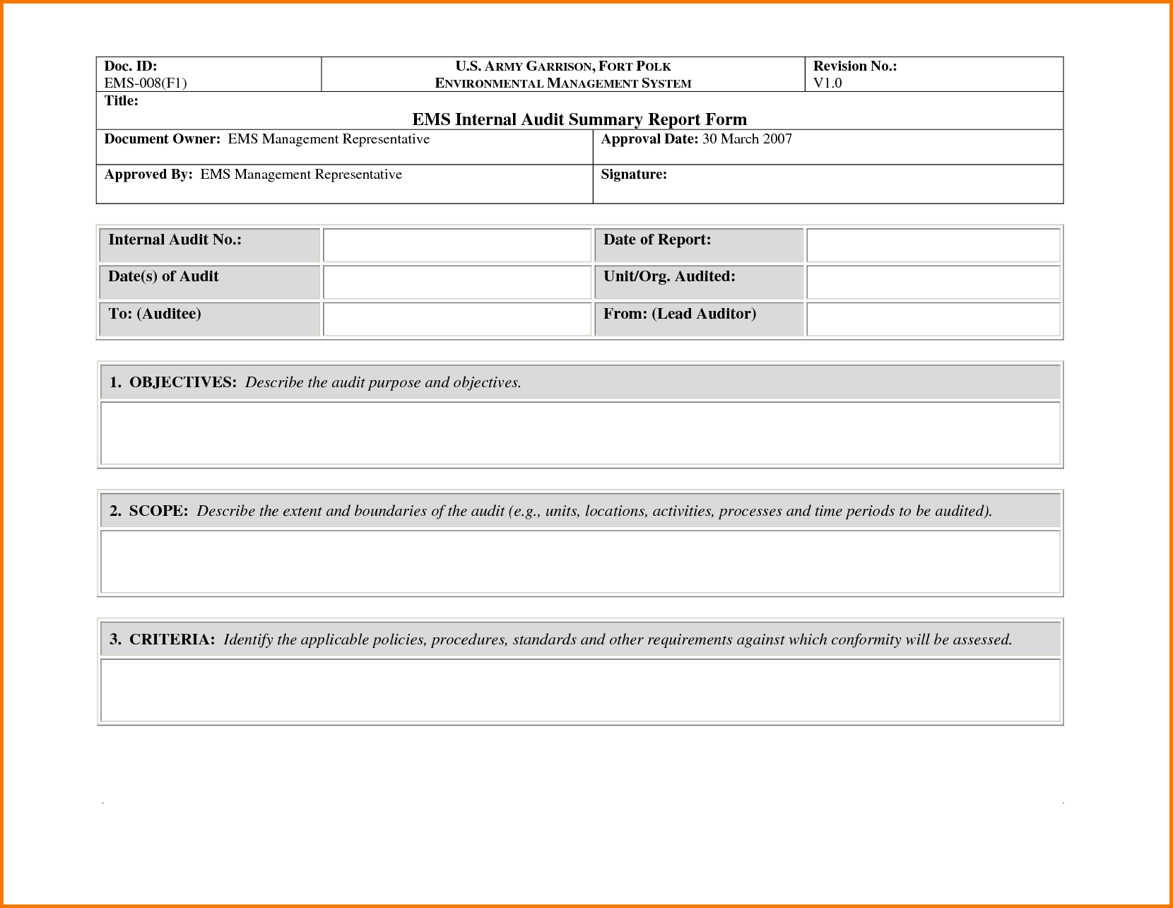 Sample Expense form and 35 Excellent Audit Report form Template Examples Thogati
