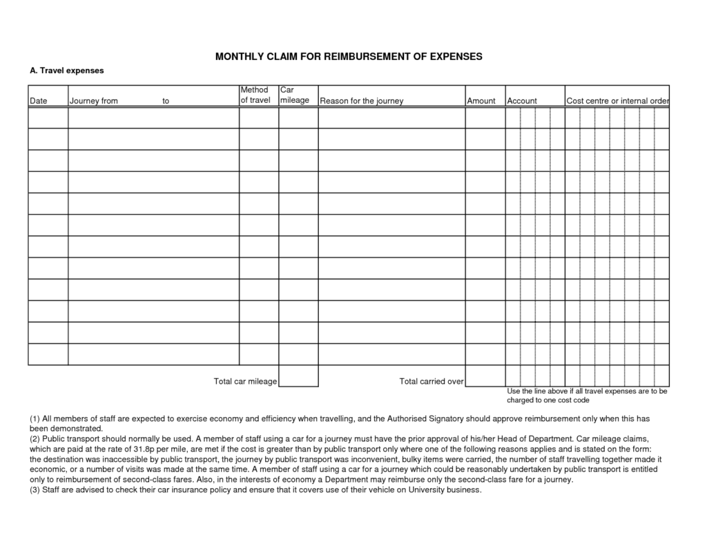 Sample Expense form and Doc Doc Example Expense Report Sample Expense