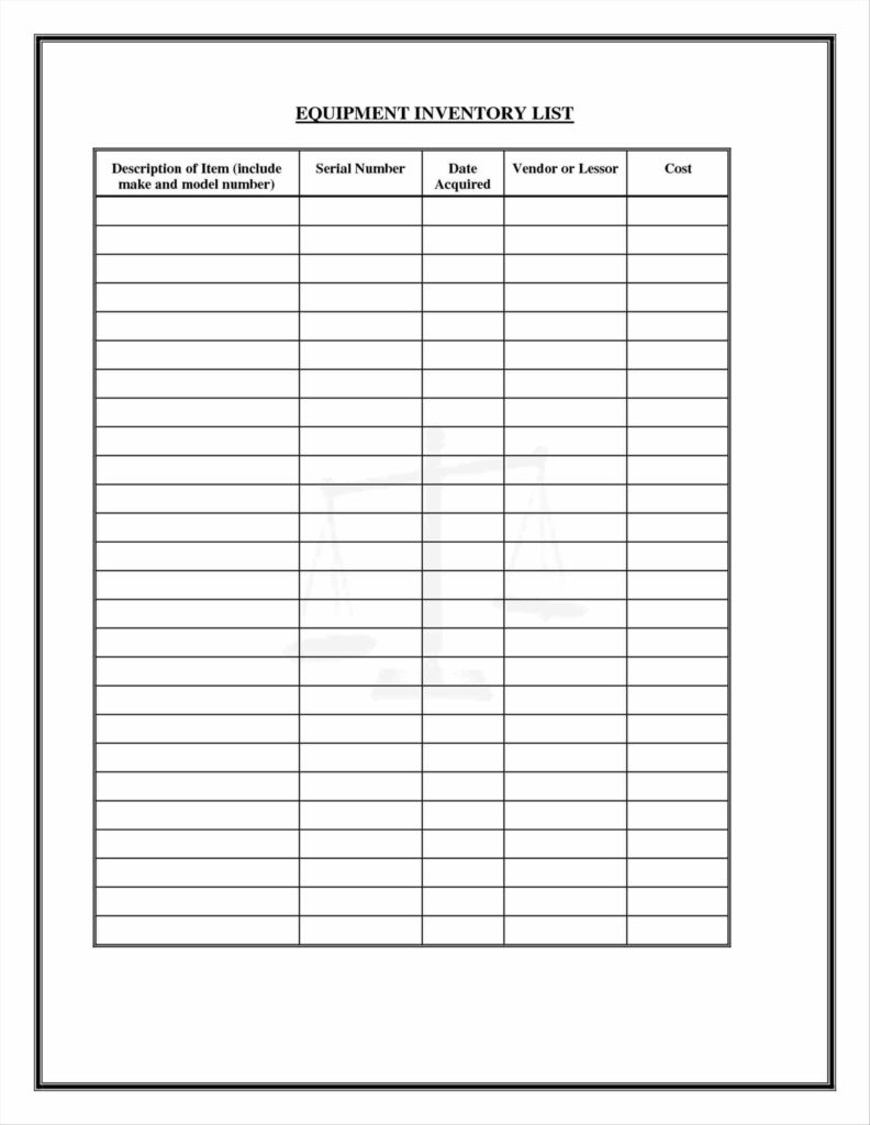Sample Inventory Sheet for Restaurant and Freewordtemplatesnet Part Log Inventory Sign Out Sheet Template