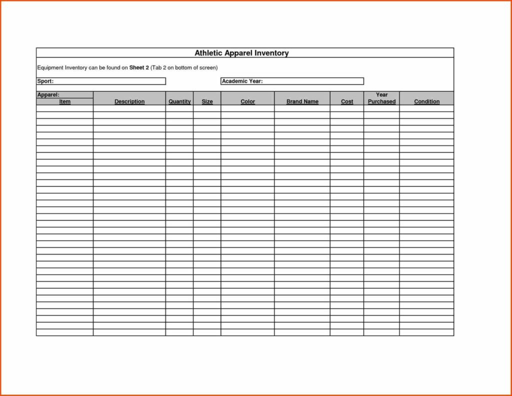 Sample Inventory Sheet for Restaurant and List and Control Spreadsheet Template Example Vlashed format