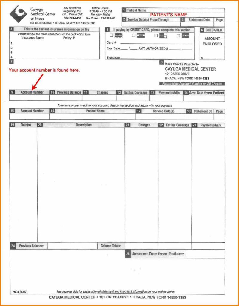 Sample Medical Bill and 3 Sample Medical Bill Receipt format Simple Bill
