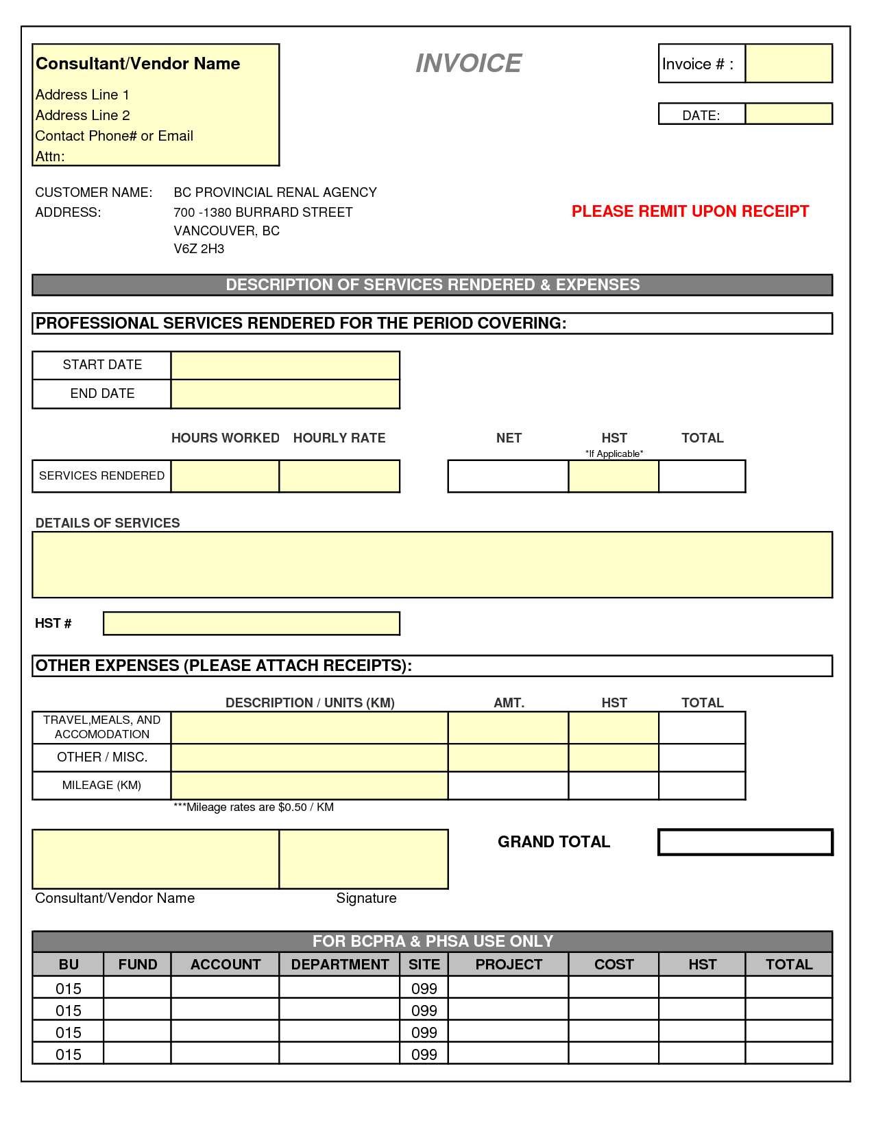 Sample Of A Invoice and Consultant Invoice Template Doc Invoice Example