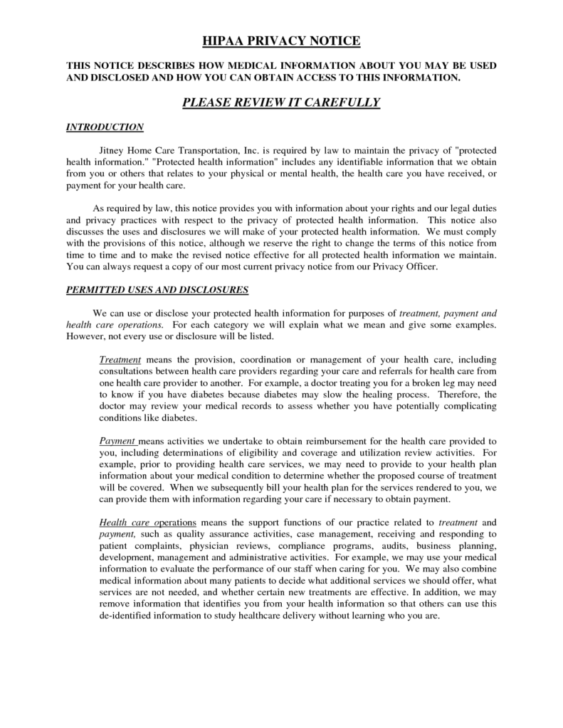 Sample Of Privacy Policy Statement and Privacy Notice Template Templates Docs