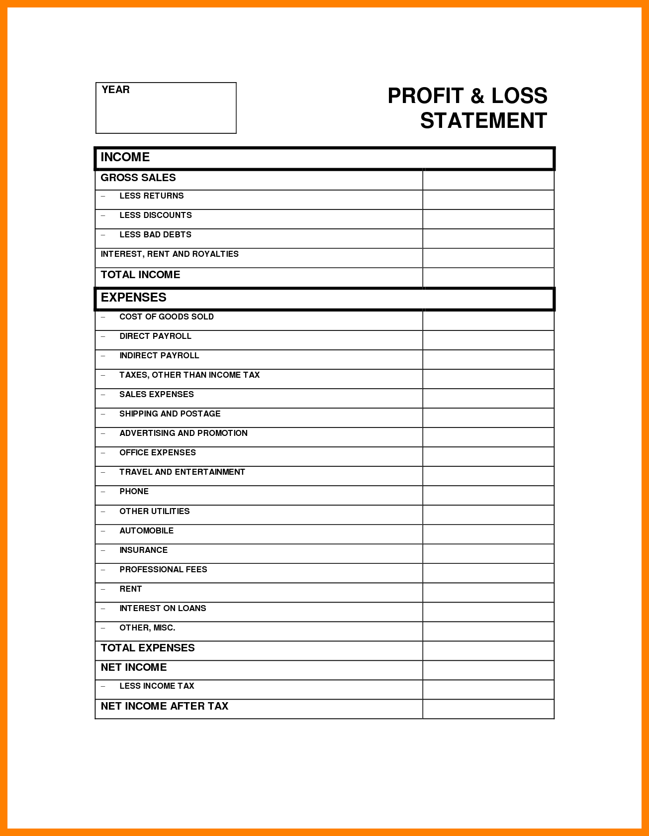 Sample Of Profit and Loss Statement and Sample Profit and Loss Statement Templates Wolfskinmall