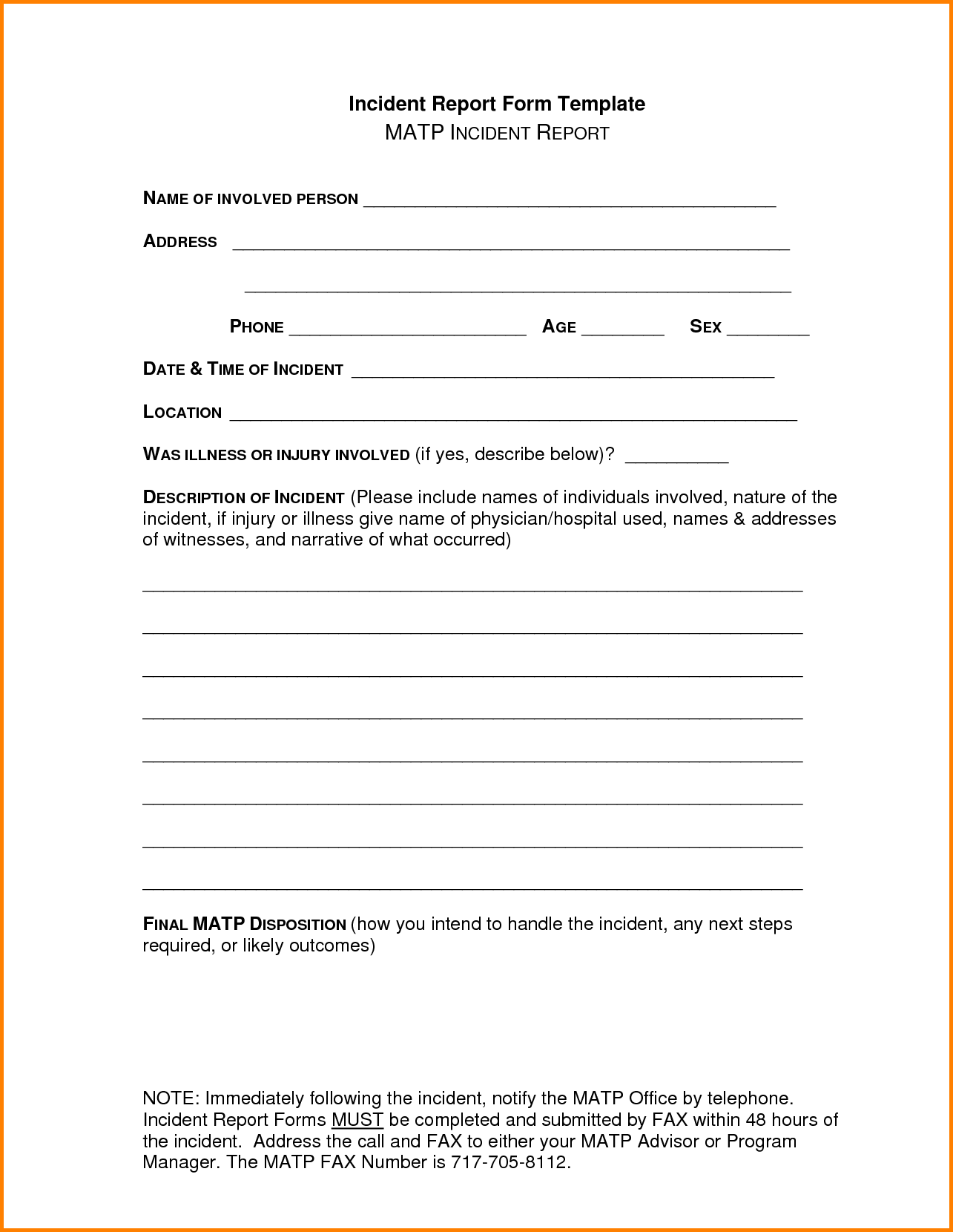Samples Of Incident Report and Incident Report Sample Letterhead Template Sample