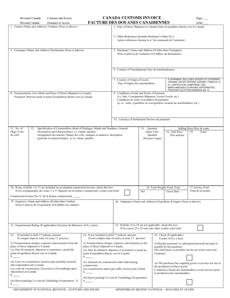 Samples Of Invoice and Canadian Invoice Template Free to Do List