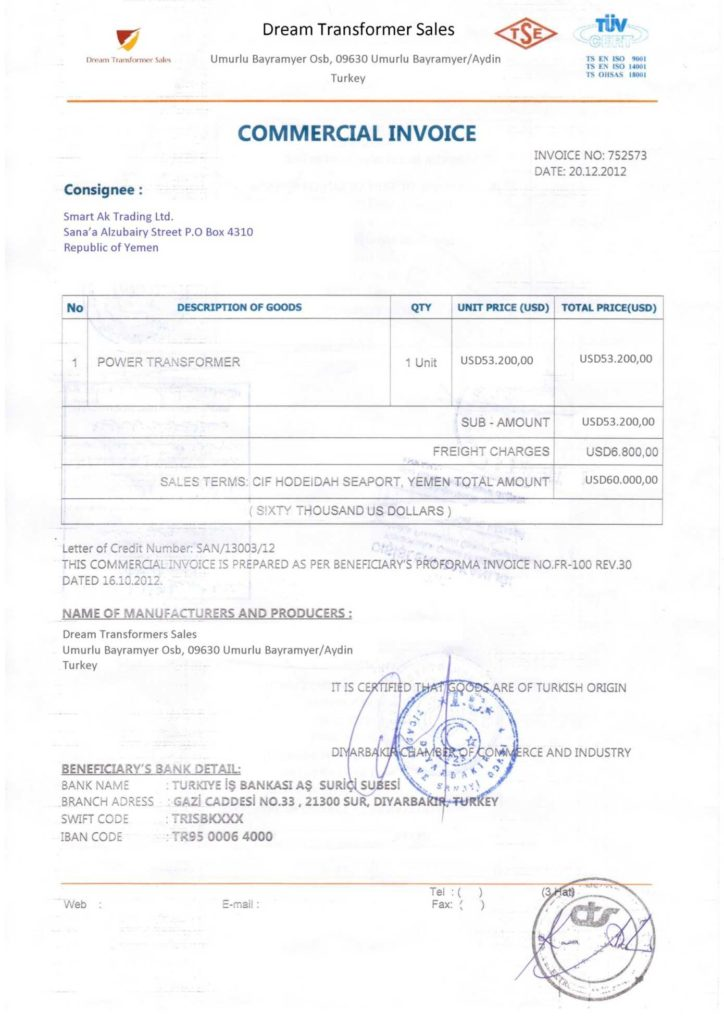 Samples Of Invoices for Services and Sample Legalized Mercial Invoice Lc