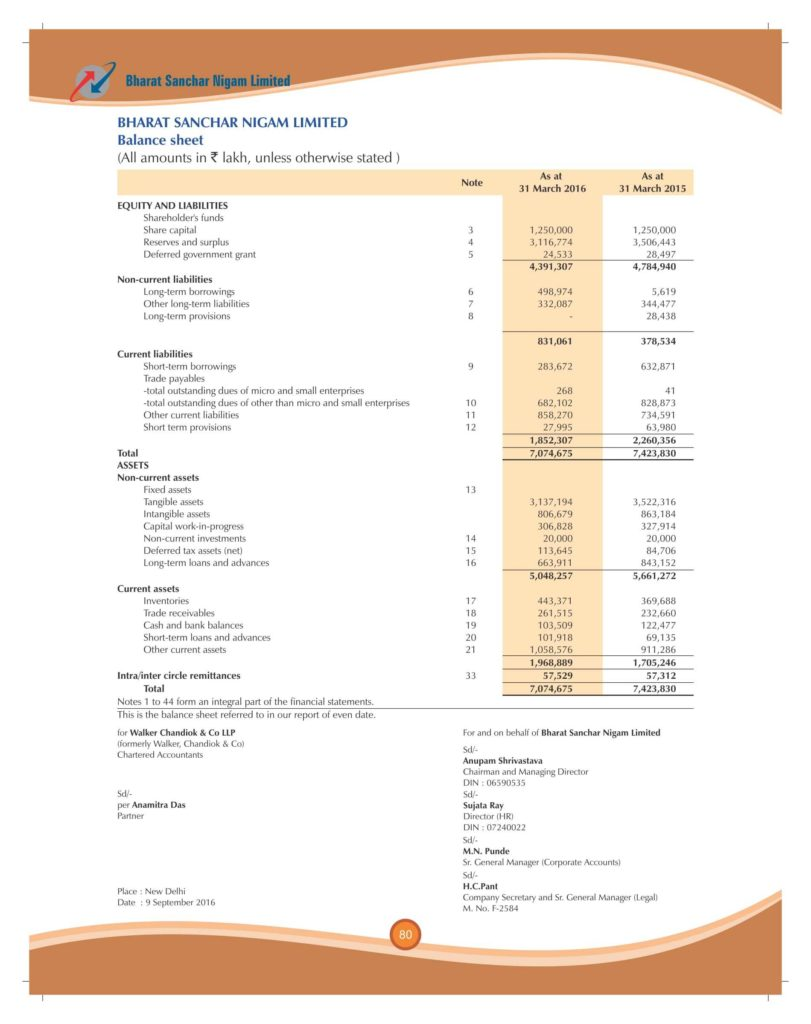 Samples Of Profit and Loss Statements and Financial Result