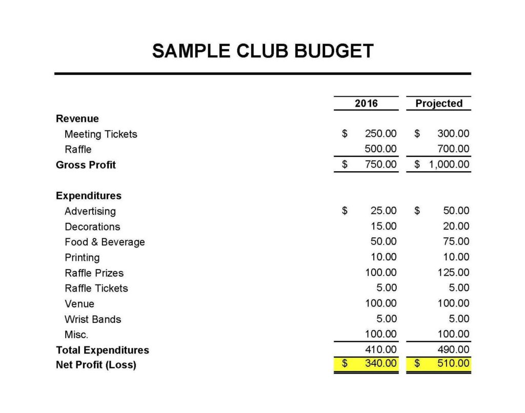 Samples Of Profit and Loss Statements and Masna Club Accounting 101