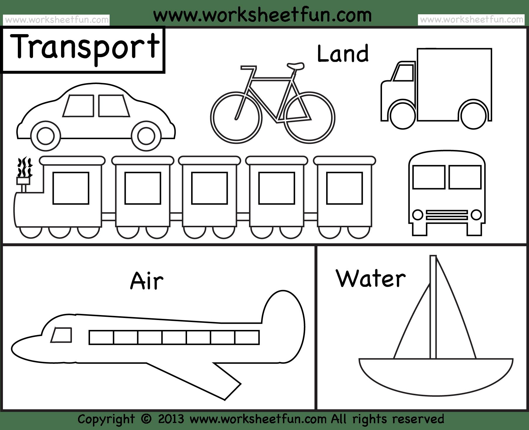 Save Water Worksheets for Kindergarten and 13 Best Photos Of Of Land Transportation Printable Worksheets
