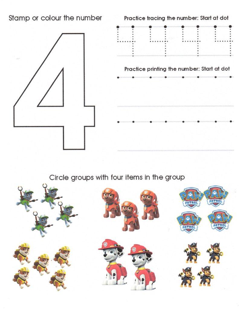 Save Water Worksheets for Kindergarten and Paw Patrol Number Worksheet 4 Homeschool Pinterest Number