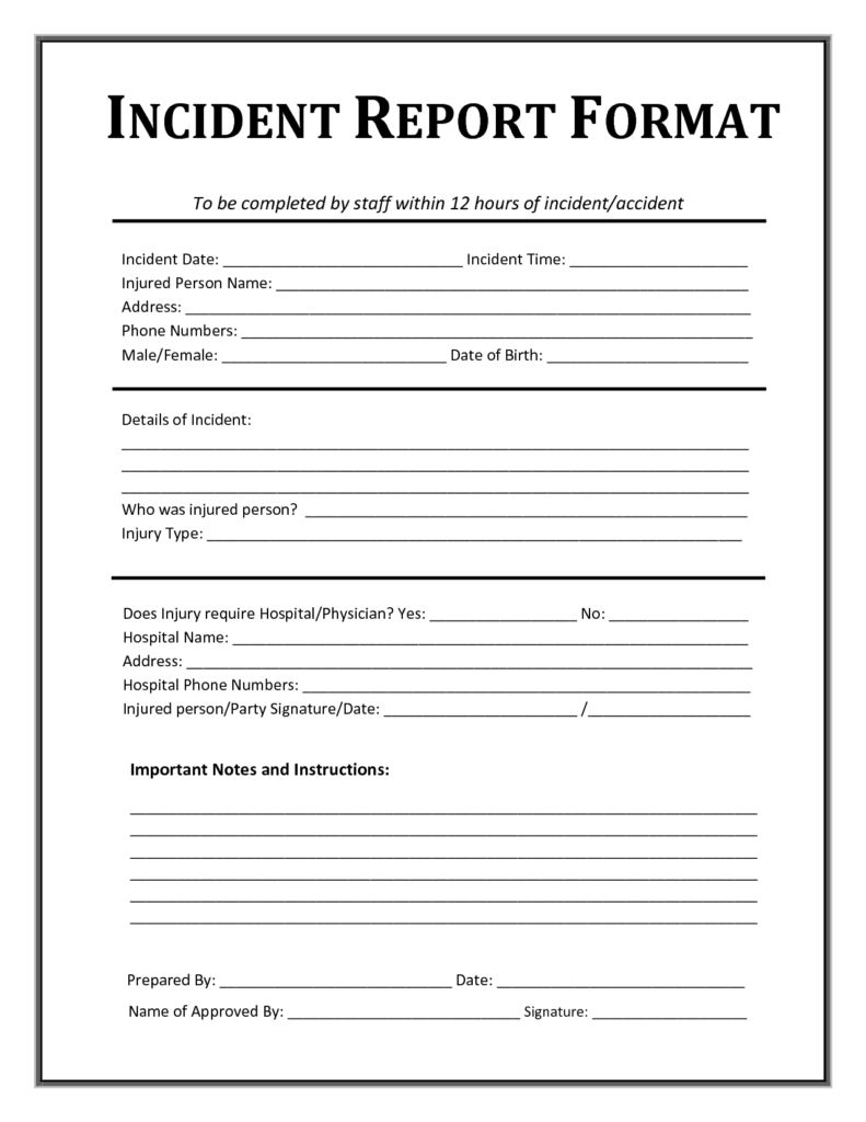 Security Incident Report Template Pdf and 13 Incident Report Templates Excel Pdf formats
