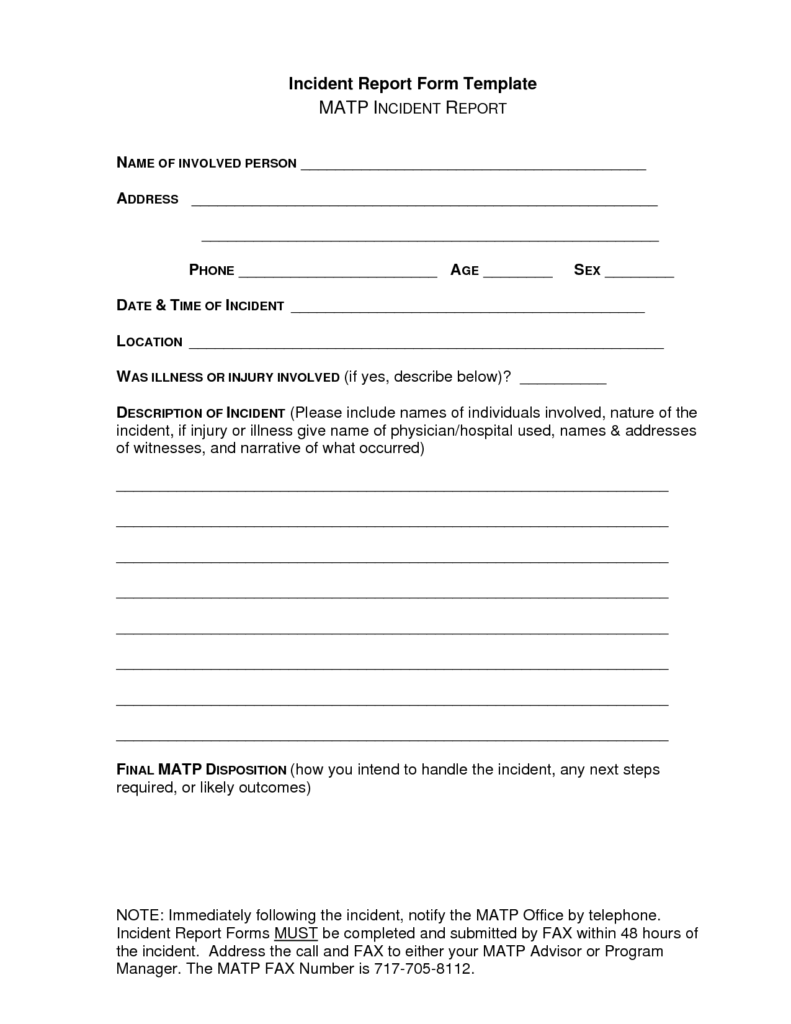 Security Incident Report Template Pdf and Best Photos Of Sample Incident Report Template Medical Incident