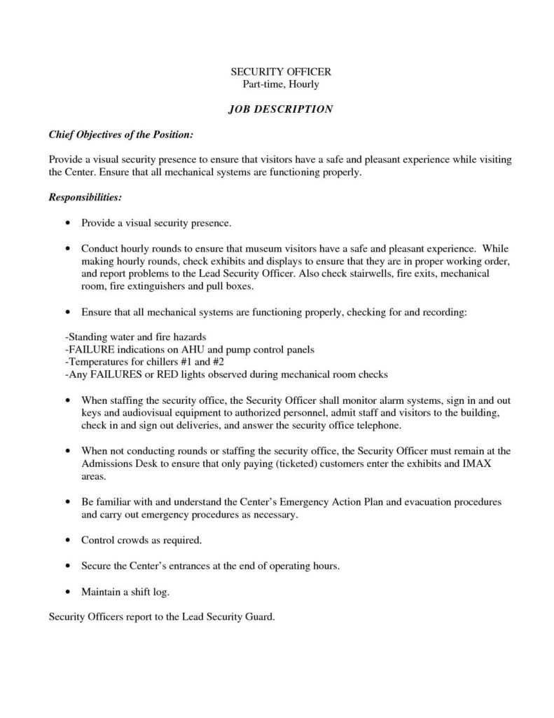 Security Report Example and Armed Security Guard Resume Sample Resume for Your Job Application