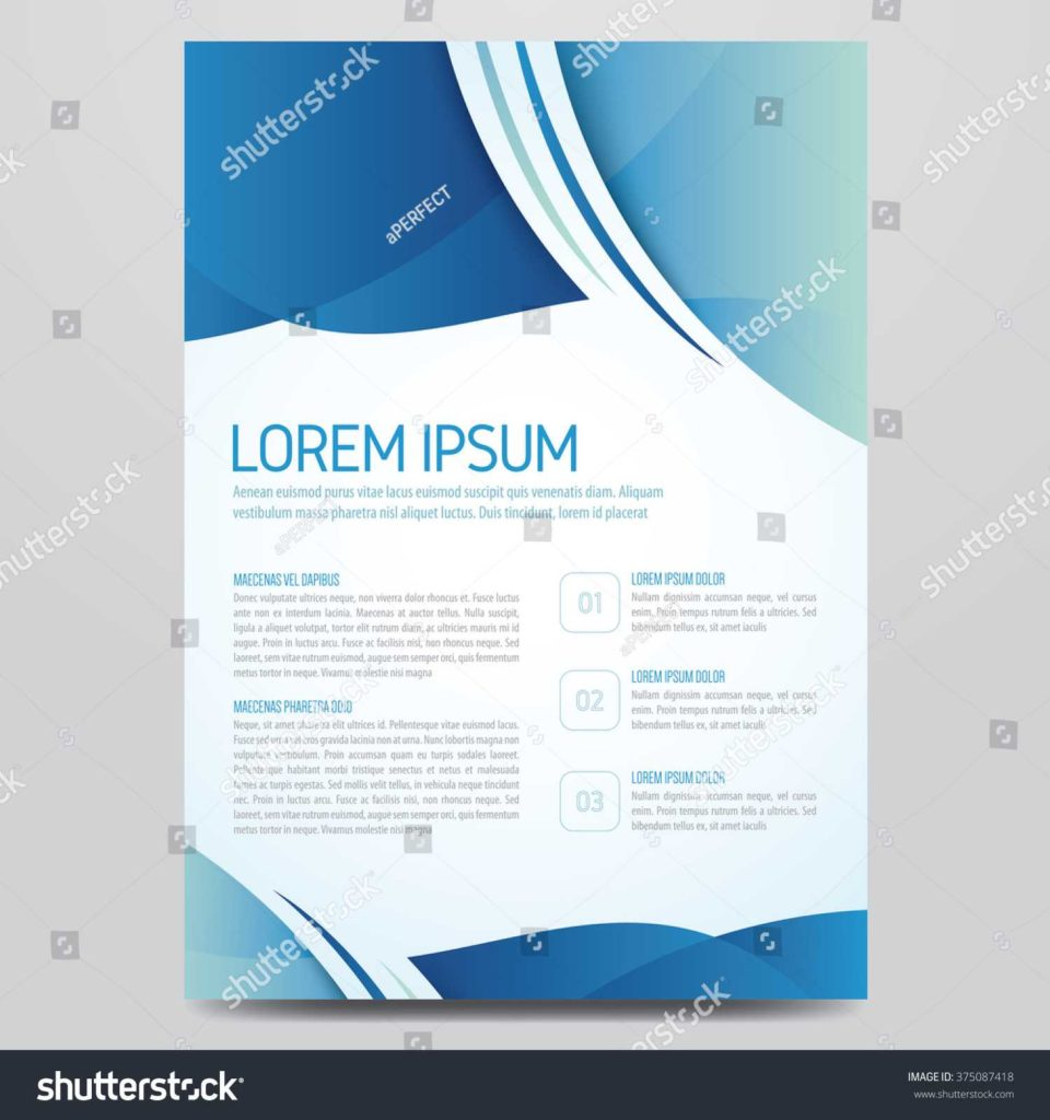 Sem Report Template and Flyer Brochure Poster Annual Report Magazine Stock Vector