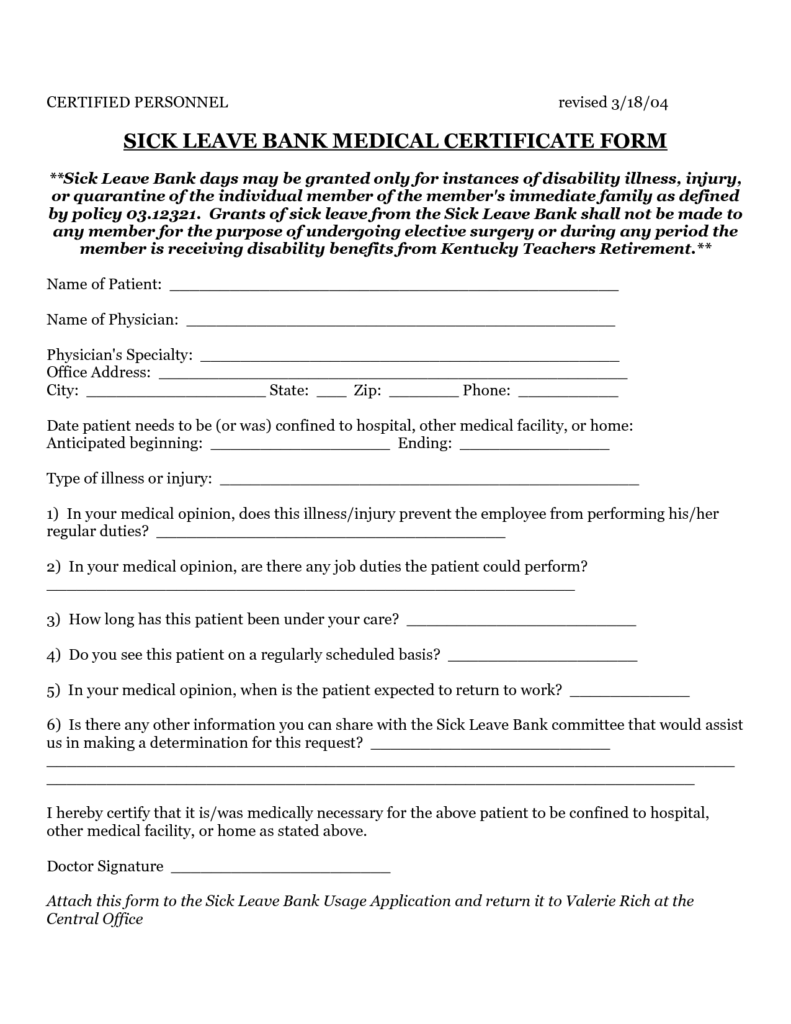 Sick Sheet Sample and 10 Best Images Of Sick Medical Certificate Medical Certificate