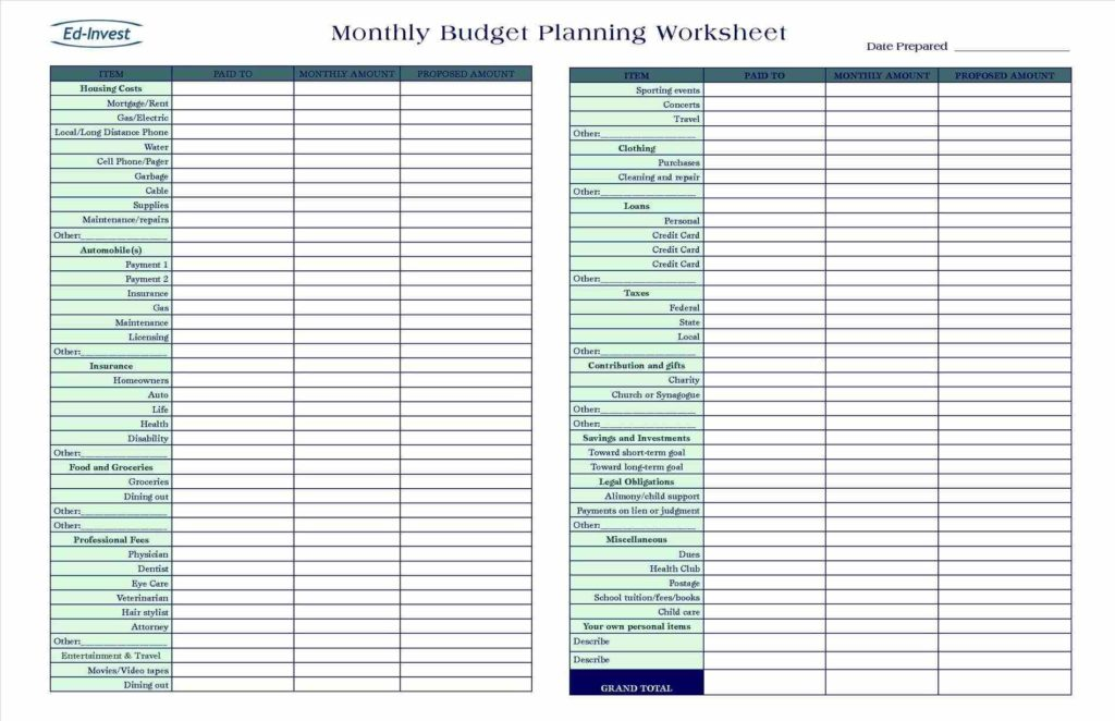 Simple Business Expense Spreadsheet and 100 Monthly Spreadsheet Simple Monthly Bud Template
