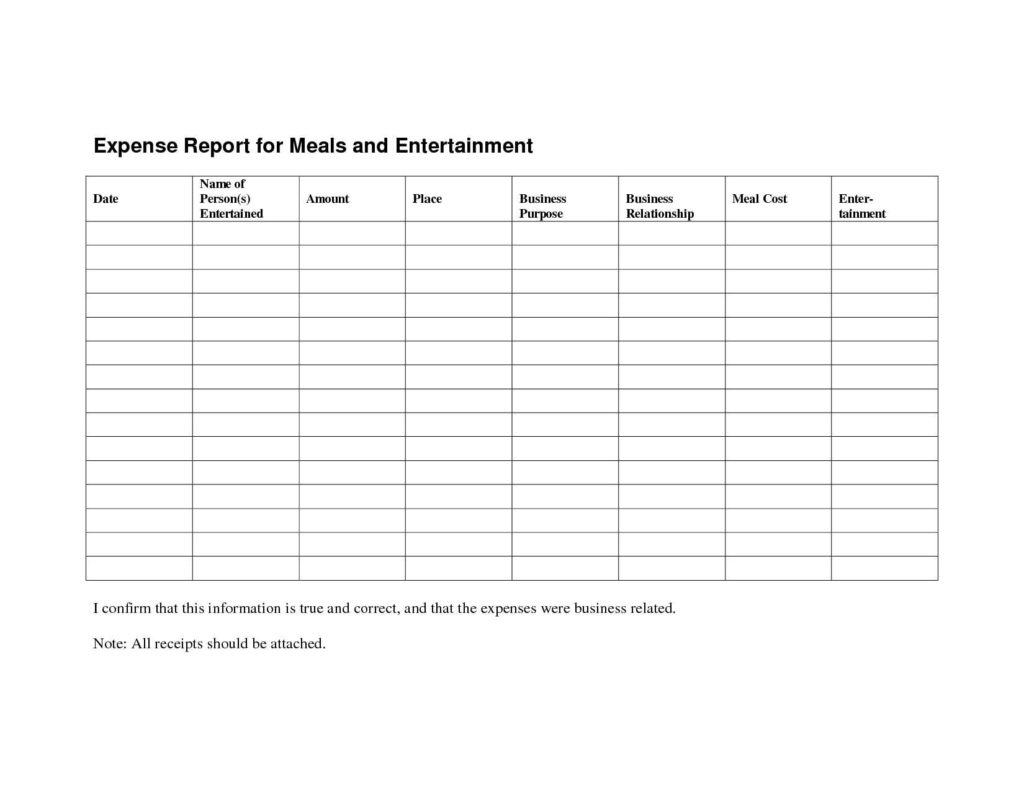 Simple Expense Report Template and Simple Expense Reimbursement form It Resume Cover Letter Sample