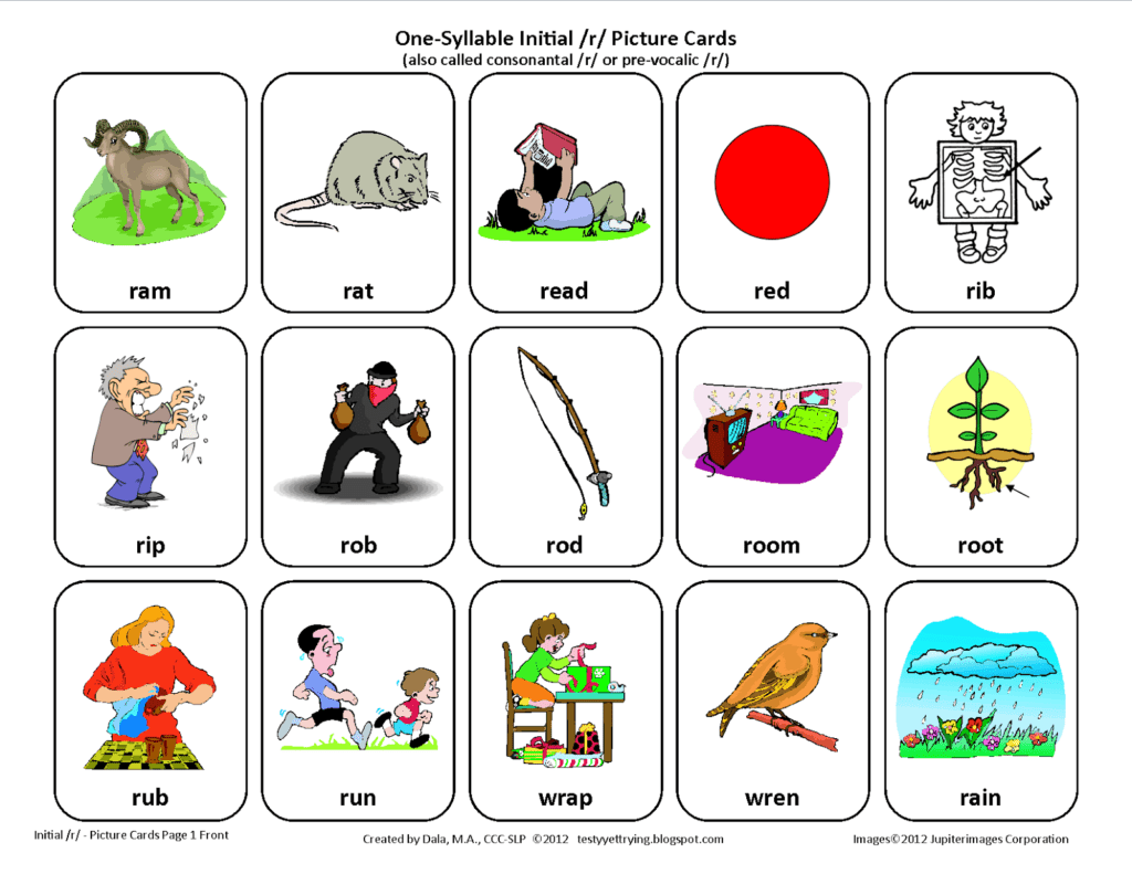 Speech Therapy Worksheets For Preschoolers And Odd One Out