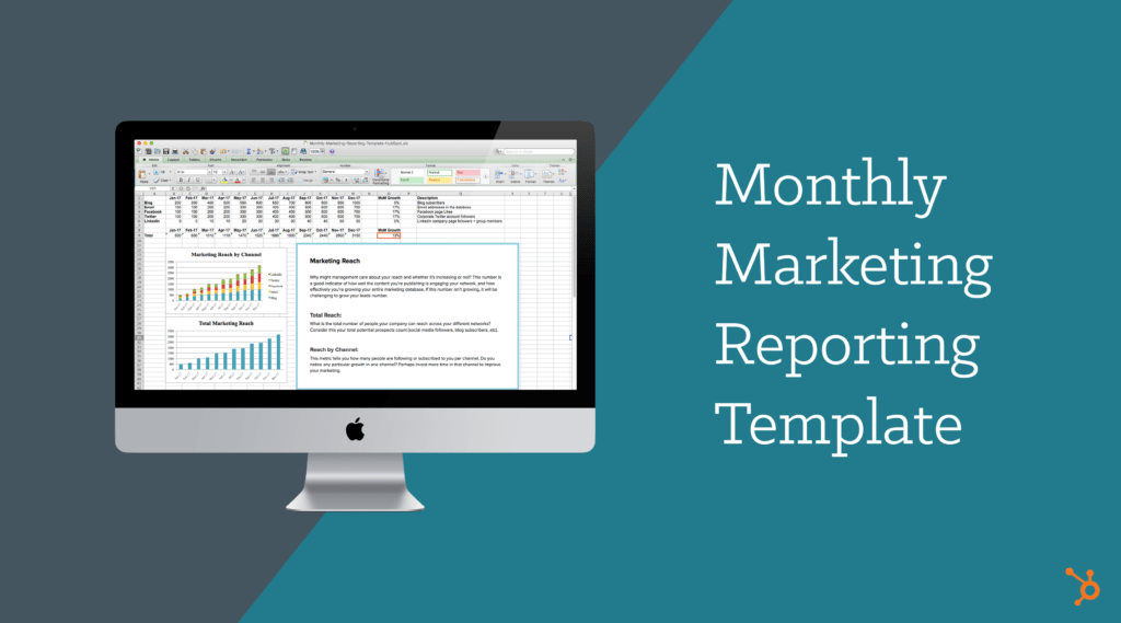Stock Report Template Excel and Monthly Marketing Reporting Template Free