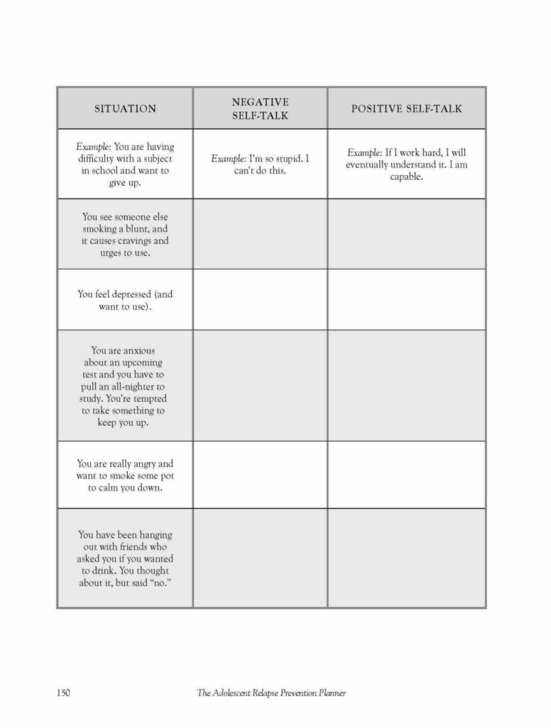 Substance Abuse Recovery Worksheets and Substance Abuse Recovery Worksheets Shaim Sheet