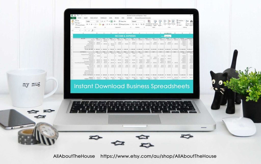 Tax Spreadsheets and Simple Spreadsheets to Keep Track Of Business In E and Expenses