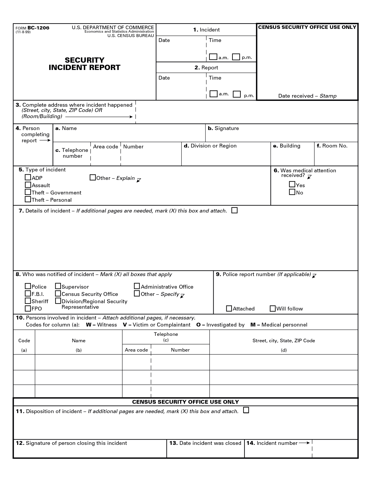 Technology Incident Report Template and Best Photos Of Security Guard Incident Report form Security