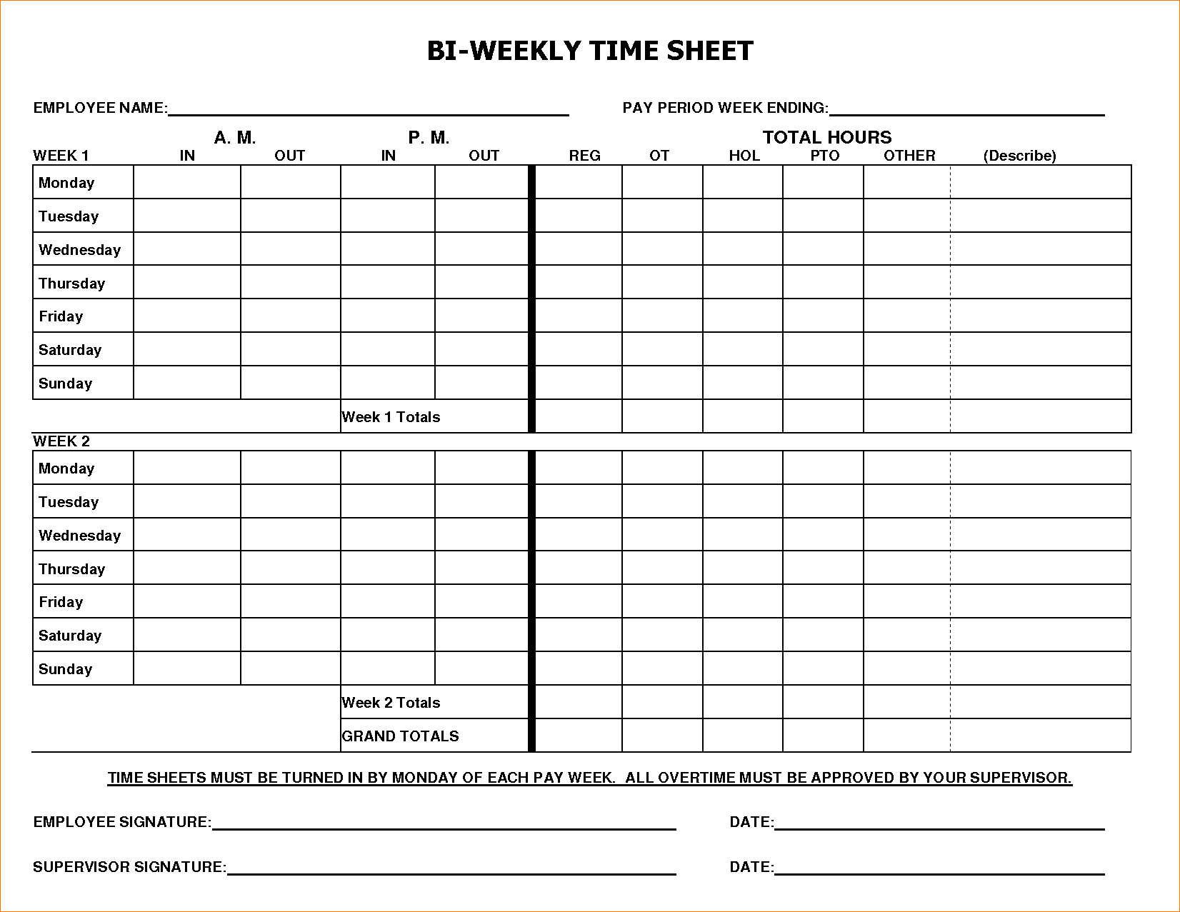 Times Sheet Template and 8 Bi Weekly Timesheet Template Timeline Template