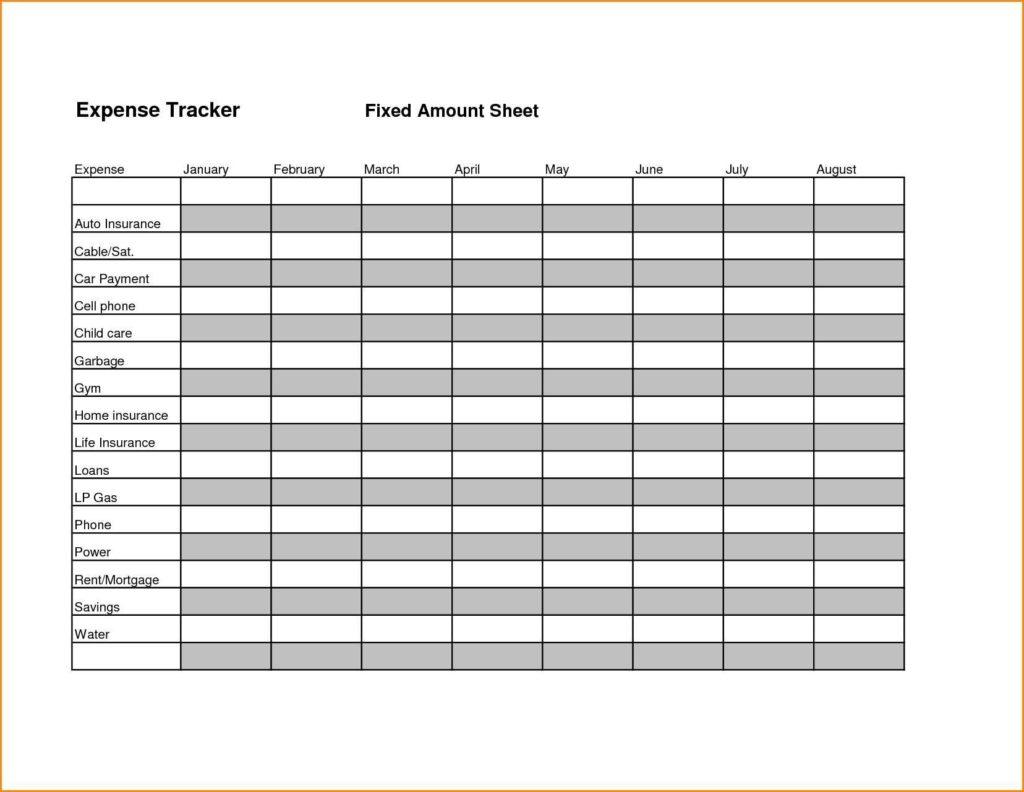 Tracking Spending Spreadsheet and Expense Tracker Spreadsheet Teerve Sheet