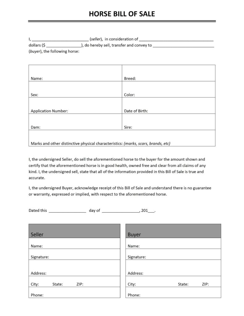 Transport Bill Sample and Bill Of Sale Freewordtemplates