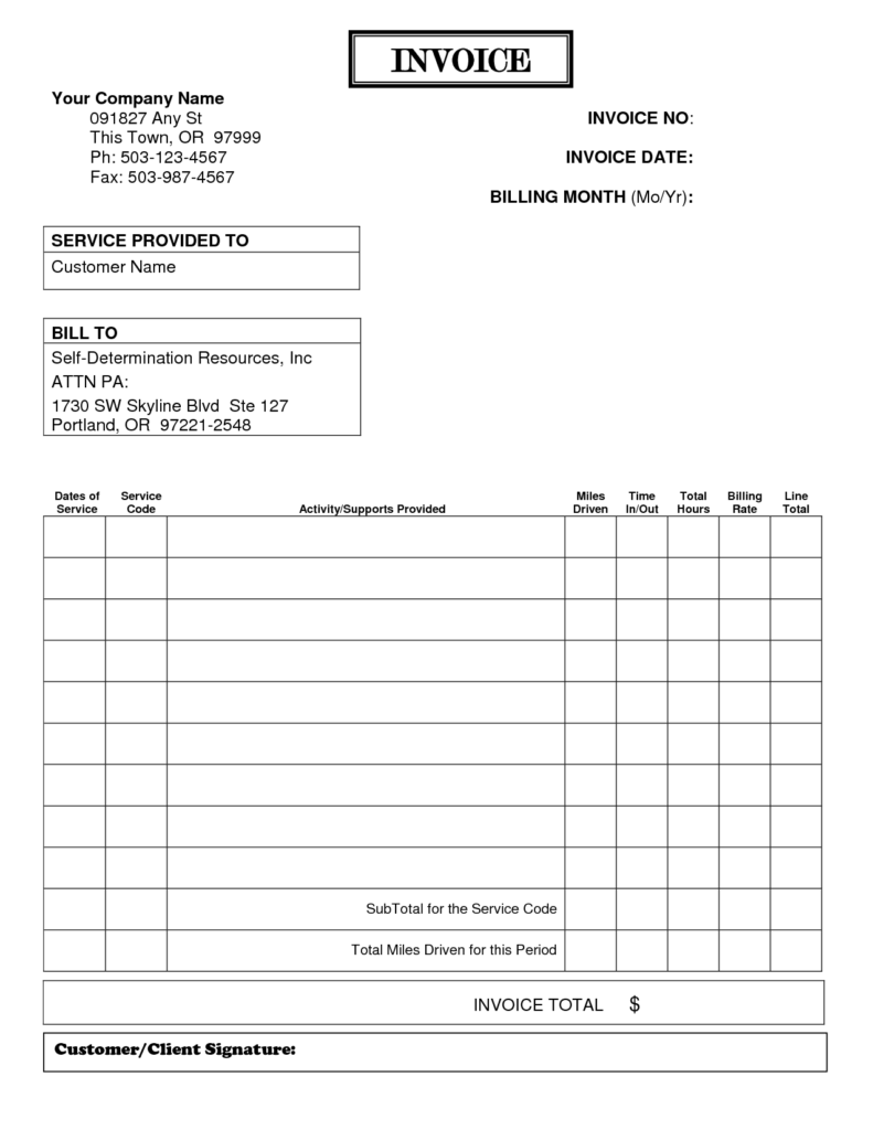 Veterinary Invoice Template and Free Printable Invoice Maker Template Design