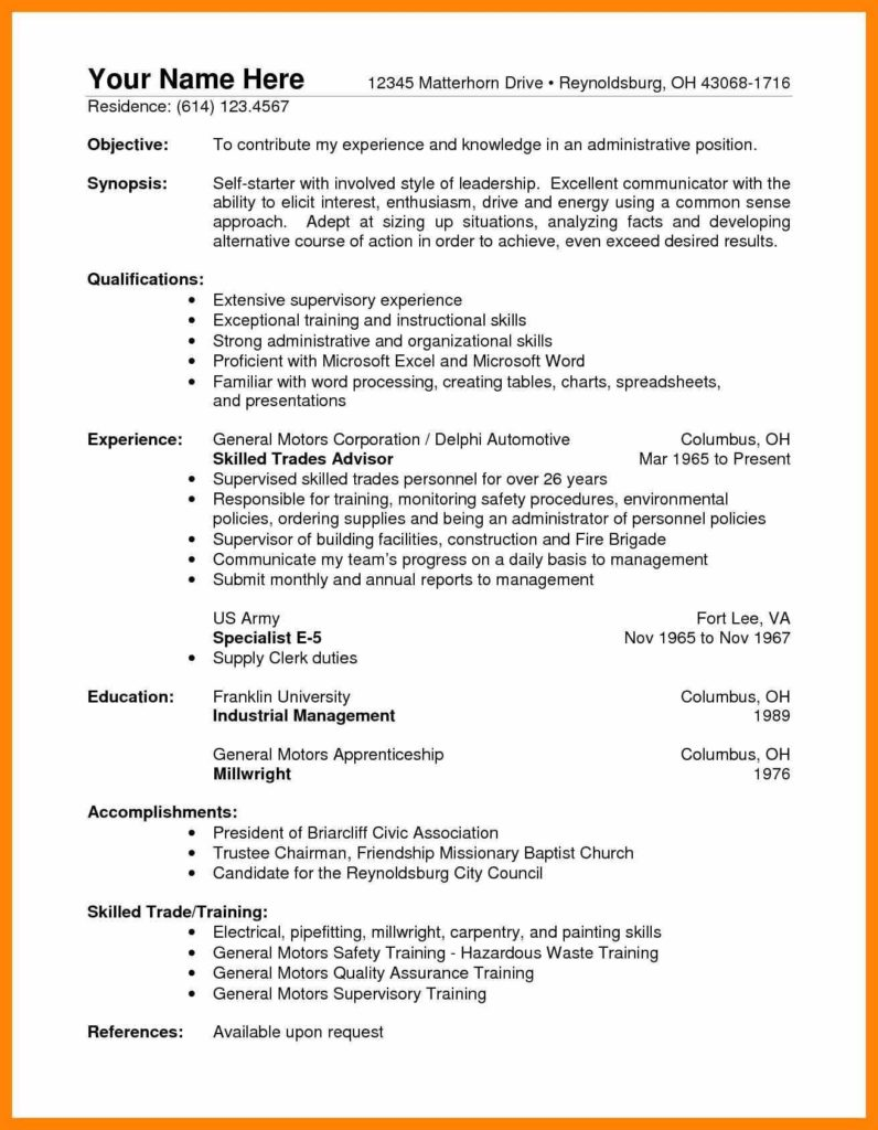 Warehouse Inventory Management Spreadsheet and 7 Warehouse Supervisor Resume Informal Letter